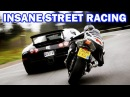 Top 7 Street Racing SUPERCARS vs SUPER BIKES || Lamborghini,Bugatti.. vs Kawasaki,Yamaha R1