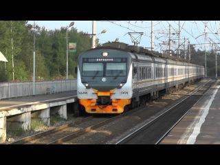 Электропоезд ЭД4М-0474 ЦППК платформа Партизанская