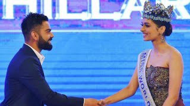 Virat Kohli Manushi Chhillar - Indian Of The Year Full Award Show HD 2017 Miss World Hariyana Girl