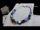 Браслет Coeur de Lion blue brown 4864 30 0711 Элитная бижутерия из Германии