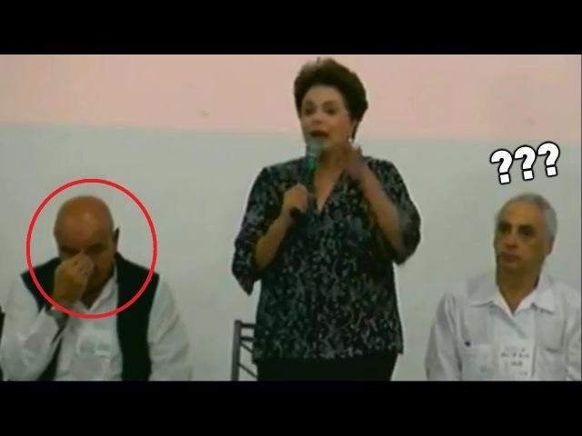 Dilma foi atacar Bolsonaro e olha a pérola que ela soltou