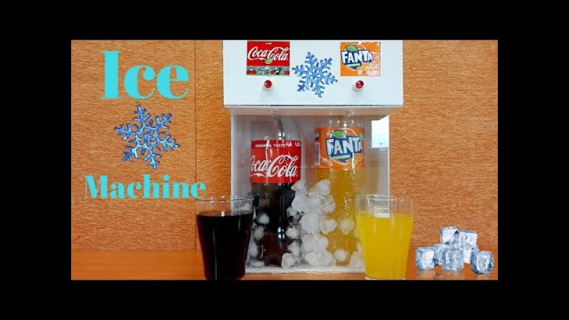 How to Make Coca Cola and Fanta Soda Fountain Machine | With ICE CUBES