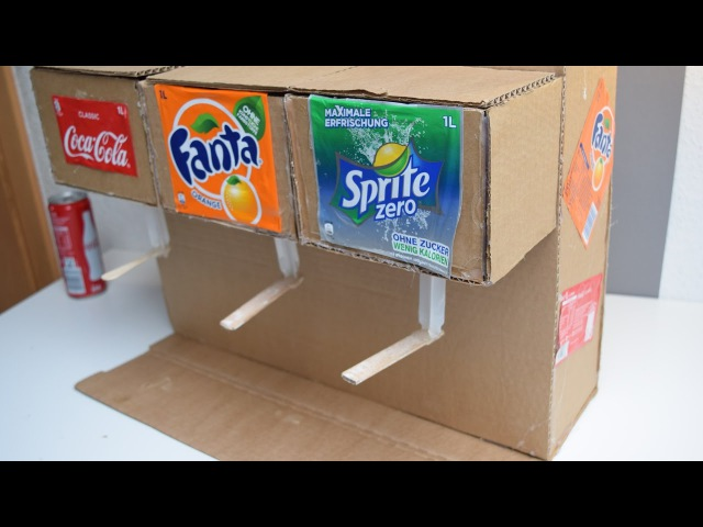 How to Make Coke Fanta Sprite Soda Dispenser Machine Using Syringe Life Hack