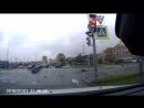 ДТП с мотоциклисткой на перекрестке Сизова и Туполевской улиц Санкт Петербург 12 июля 2017 г