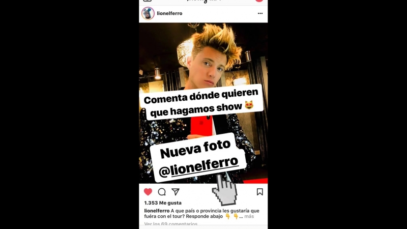 Instagram stories by Lionel Ferro