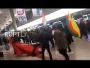 Курды в аэропорту устроили диверсию против турков и отхватили люлей