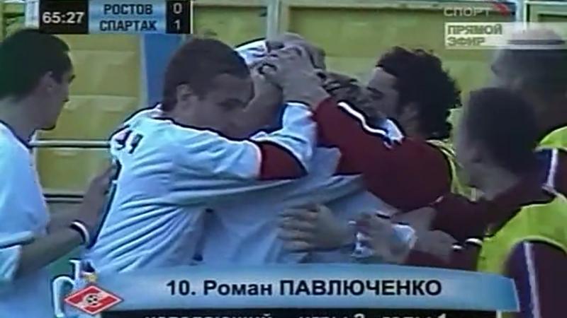 2005 Гол Романа Павлюченко в ворота Ростова 1 0