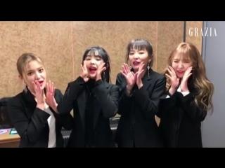180305 Red Velvet & Various Artists @ Grazia Korea 5th Anniversary Message
