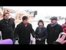 Охлобыстин, Добронравов и Лядова построили ледяные фигуры