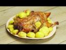Утка запеченная с яблоками. Блюдо для праздника.