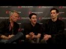 ITW Sean Pertwee ⁄ Robin Lord Taylor ⁄ Cory Michael Smith (Gotham) ¦ FTV16