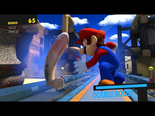 Sonic Forces: Double Boost except Mario slaps a cock