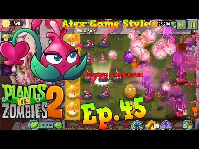 Plants vs. Zombies 2 Pinata Party 1622018 || Blooming Heart Premium Plant - Valenbrainz (Ep.45)