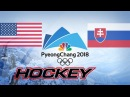 Olympic Game 2018, USA vs SVK, Highlights Hockey..