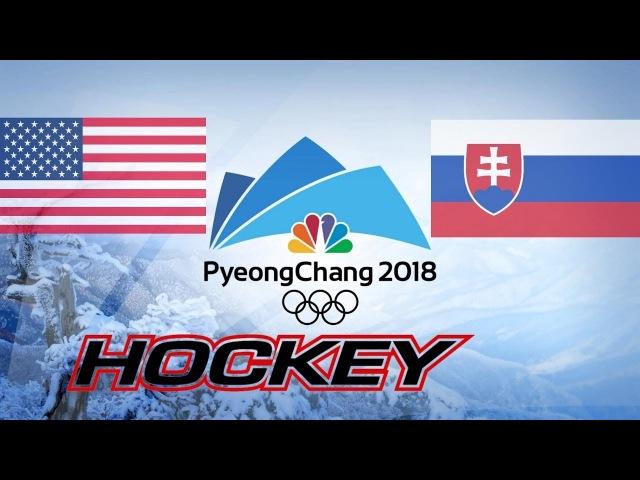 Olympic Game 2018, USA vs SVK, Highlights Hockey..