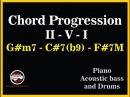 CHORD Progression II-V-I Gm7 - C7(b9) - F7M