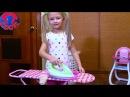 Ярослава КАК МАМА гладит вещи кукле Беби Бон и укладывает спать Видео для детей