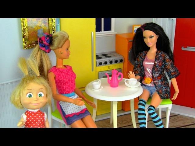 НОВАЯ ПОДРУГА Мама Барби Маша и Медведь Мультик Куклы Барби Игрушки Для девочек