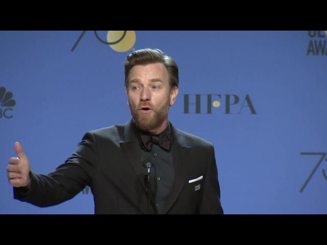 Ewan McGregor on reprising 'Obi Wan Kenobi' role 2018 Golden Globes Full Backstage Speech
