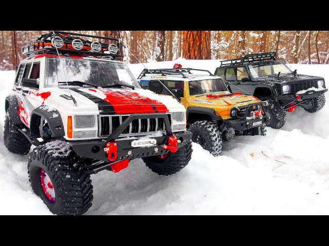 Stuck in the Snow RC Cars 4x4 — Towing Axial SCX10 II and HPI Venture — RC Extreme Pictures