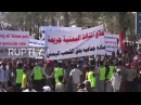 Yemen Hudaida protesters march against Saudi led coalition blockade