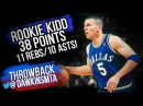 Rookie Jason Kidd Triple-Double 1995.04.11 at Rockets - 38 Pts, 11 Rebs, 10 Assts, 8 Threes!