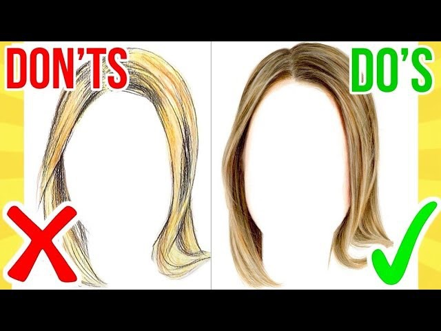 DO'S DON'TS How To Draw Realistic Hair using Coloured Pencil Step By Step Drawing Tutorial