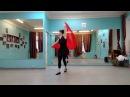 Танец с красной тканью...