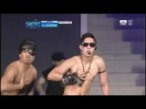 110707 Break Down &amp Dancing in the Water@Kim Hyun Joong in Mnet 20's Choice Awards 2011