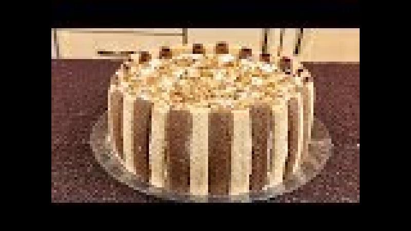 Быстрый торт из печенья бамбук «Тропиканка» (без выпечки).