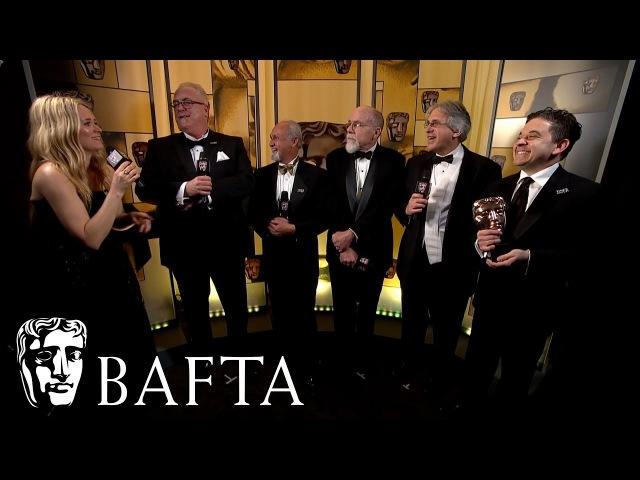 Dunkirk wins Sound   Backstage Interview   EE BAFTA Film Awards 2018