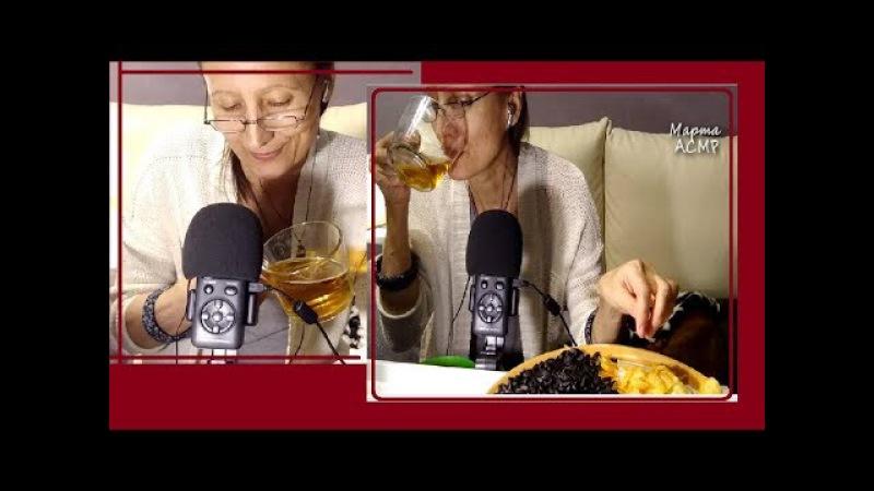 АСМР Пиво с чипсами и семечками. ASMR beer chips seeds. итинг. eating,