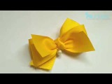 How To Make Yellow Ribbon Bow with Pearl DIY by Elysia Handmade