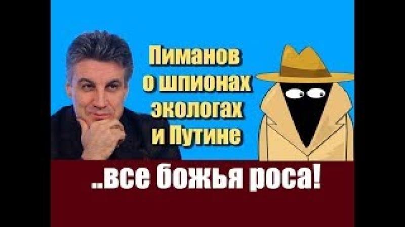 Пиманов о шпионах, экологах и Путине