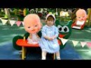 Кукла Беби бон и Лиза играют на детской площадке Play area for kids Amusement park