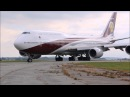 Boeing 747-8ZV BBJ VQ-BSK Qatar Amir Flight, Arrival and departure, Sola airport, Norway