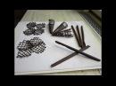 Ako pripraviť čokoládové ozdoby na tortu Chocolate decoration 3 časť