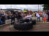М Шивляков и Д. Белайц-мировой рекорд в тяге трактора Арм овер арм (СТБ-Охрана)