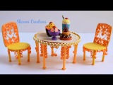 Miniature Quilling Dining Table and Chair Quilling Show Piiece