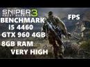 Sniper Ghost Warrior 4460 GTX 960 4GB 8GB HIGH