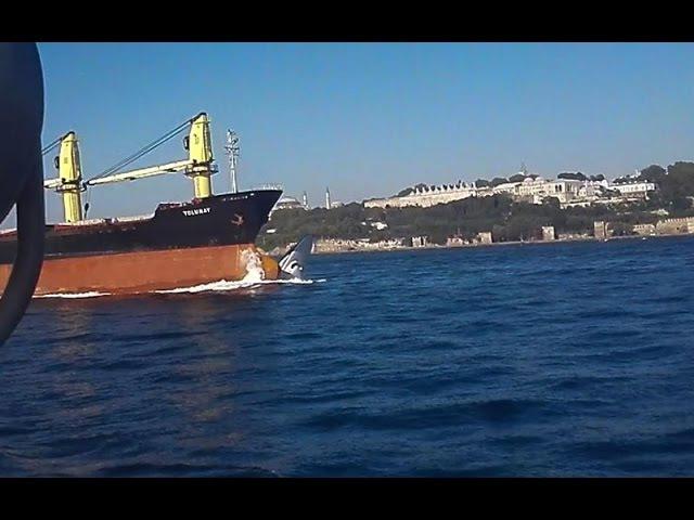 Столкновение сухогруза M/V Tolunay с катером турецкой береговой охраны в проливе Бос...