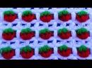 TAPETE DE FRESAS A CROCHET fácil de tejer en video tutorial paso a paso