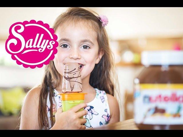 Nutella-Eis am Stiel selber machen aus 3 Zutaten Wassereis selber machen