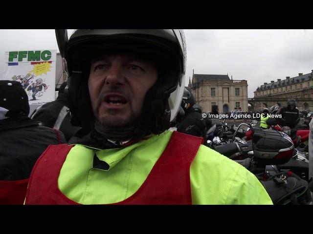 Les Motards en Colère défilent contre les 80km/h. Paris/France - 03 Février 2018
