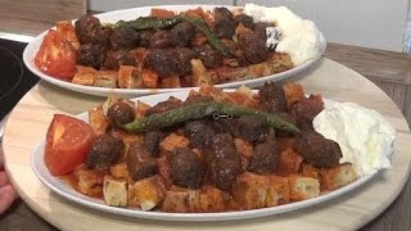 Ev UsulüYapimi Çok Kolay Köfteli İskender Kebab Tarifi