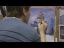Исаакиевский собор в зимний вечер. Картина маслом. Часть II. Пишет художник Иван М...