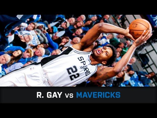 Руди Гэй в матче с Mavericks