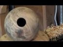 44 Walnut Burl Sphere Hollow Form
