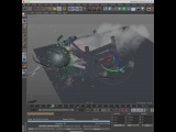 Cinema 4D Tutorial: X-Particles and TurbulenceFD for Dynamic Simulations