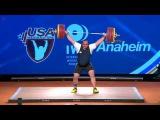 Lasha Talakhadze – 220 kg Snatch - WORLD RECORD - 2017  | Anaheim USA Weightlifting